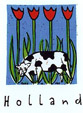 T-shirt Holland, koeien en tulpen